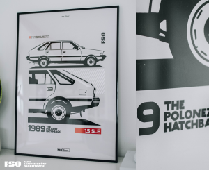FSO® - The Polonez Hatchback - poster - 50*70cm